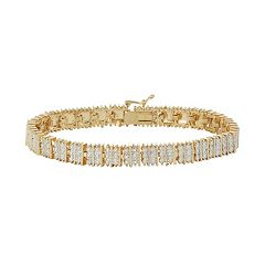 14k Gold Plated Diamond Accent Bracelet