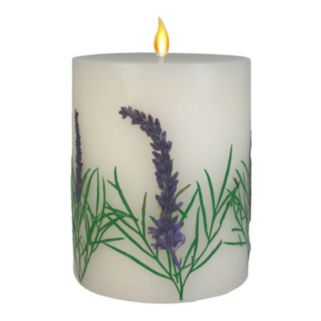 "SONOMA Goods for Life™ Farmhouse Be Relaxed 3.25"" x 4"" Pillar Candle"