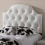 Baxton Studio Morris Faux Leather Scalloped Twin Headboard