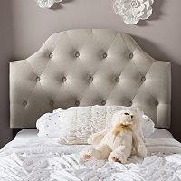 Baxton Studio Morris Scalloped Twin Size Headboard