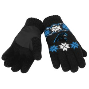Adult Forever Collectibles Carolina Panthers Lodge Gloves