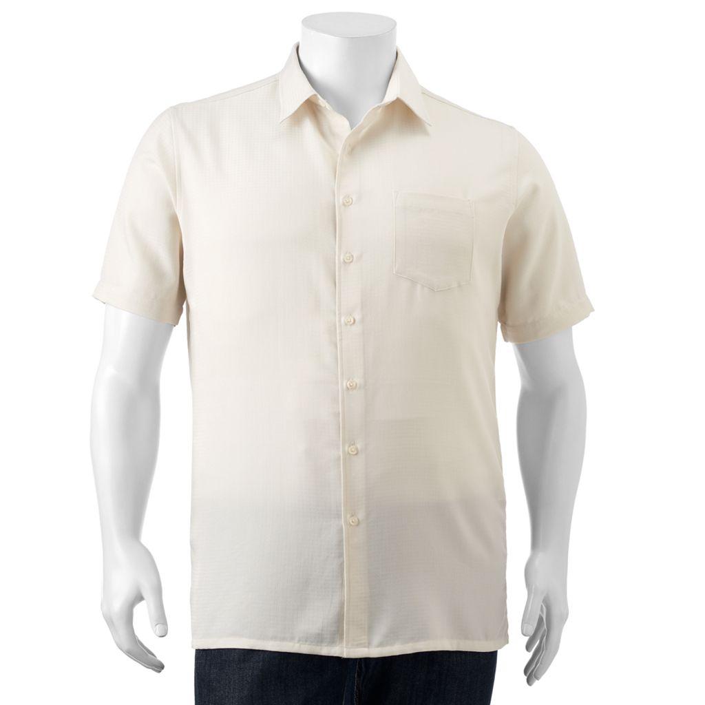 Big & Tall Croft & Barrow® Classic-Fit Easy-Care Microfiber Button-Down Shirt