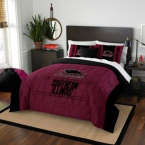Southern Illinois Salukis Modern Take Full/Queen Comforter Set by Northwest