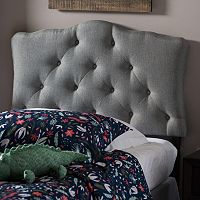 Baxton Studio Rita Scalloped Twin Headboard