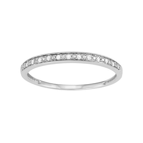 10k Gold Diamond Accent Wedding Ring