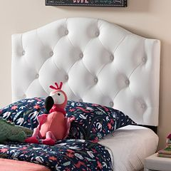 Baxton Studio Myra Faux Leather Scalloped Twin Headboard