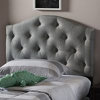 Baxton Studio Myra Scalloped Twin Headboard