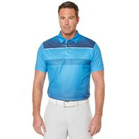 Men's Grand Slam Classic-Fit Ombre-Striped Driflow Performance Golf Polo