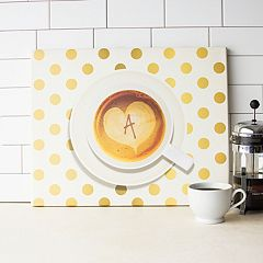 Cathy's Concepts Monogram Coffee Canvas Wall Decor