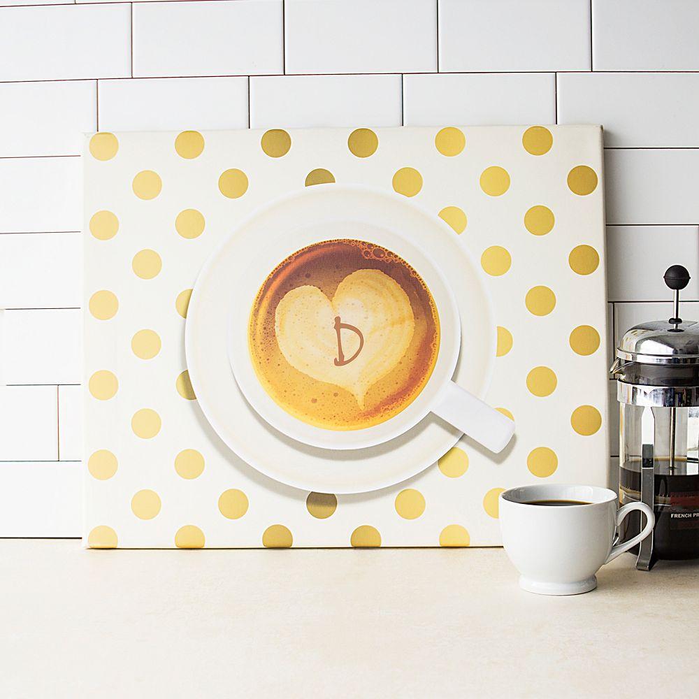Cathy\'s Concepts Monogram Coffee Canvas Wall Decor