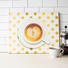 Cathy's Concepts Monogram Coffee Canvas Wall Decor