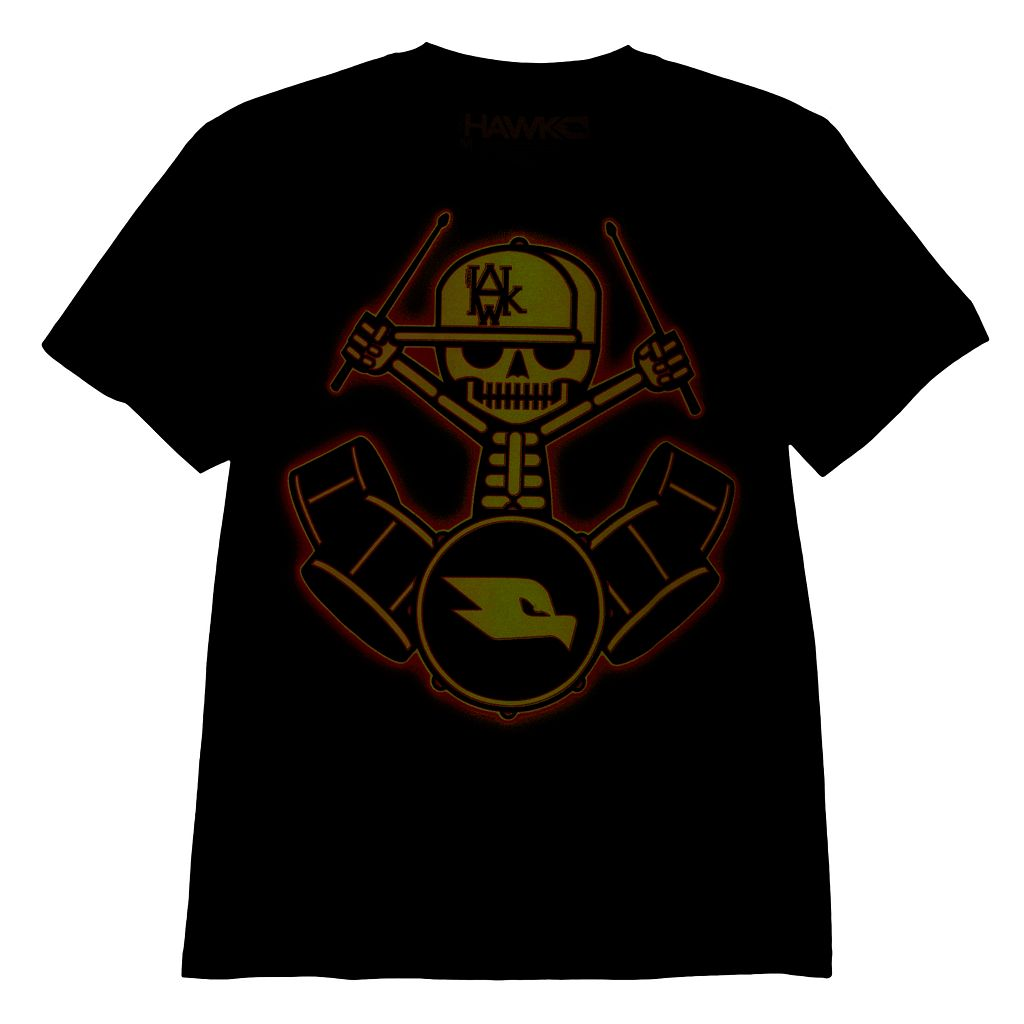 Boys 8-20 Tony Hawk Drummer Skeleton Glow-in-the-Dark Tee