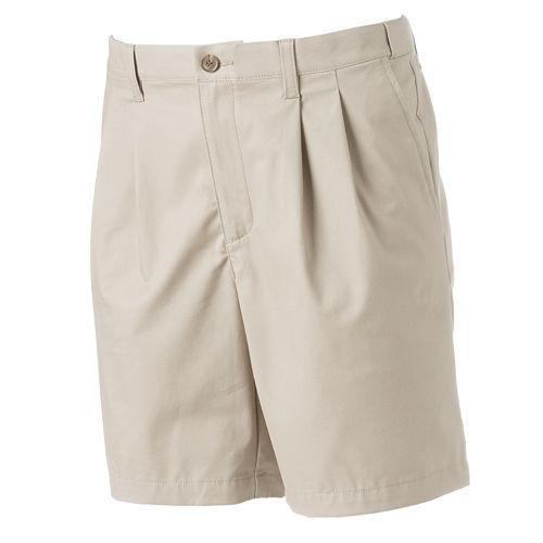 Big & Tall Croft & Barrow® True Comfort Classic-Fit Stretch Pleated Shorts