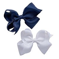 Girls 4-16 2-pk. Grosgrain Bow Hair Clips