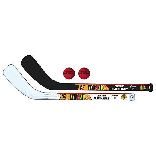 Franklin Sports Chicago Blackhawks Mini Hockey Player Set