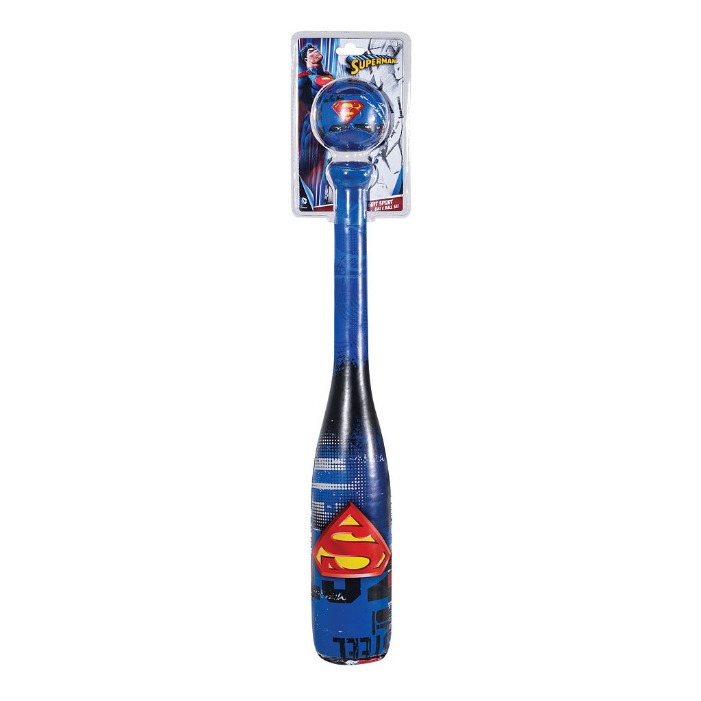 Franklin Sports Superman Soft Sport Bat & Ball Set
