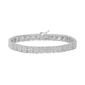 Silver Tone Diamond Accent Bracelet