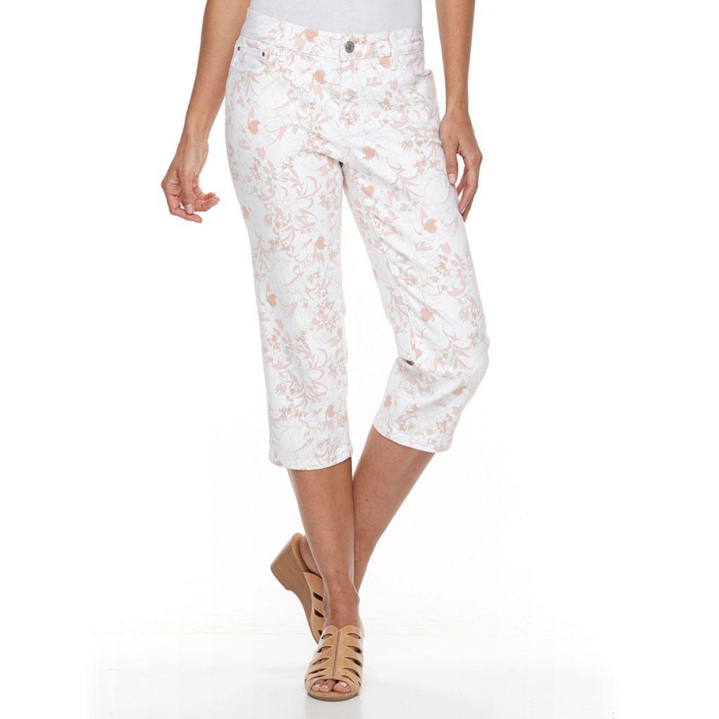Women's Croft & Barrow® Floral Capri Jeans