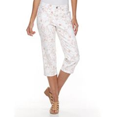 Women's Croft & Barrow® Floral Capri Jeans
