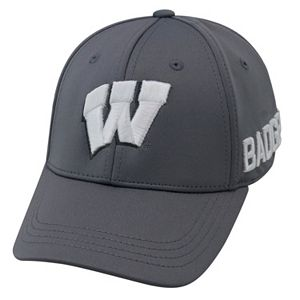 Youth Top of the World Wisconsin Badgers Bolster Mesh Cap