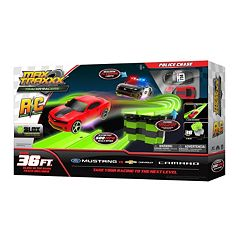 Skullduggery Max Traxxx Tracer Racer RC Police Chase Mustang vs. Camaro by