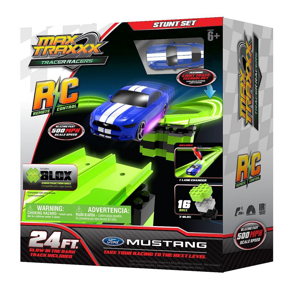 Skullduggery Max Traxxx Tracer Racer RC Stunt Set - Mustang