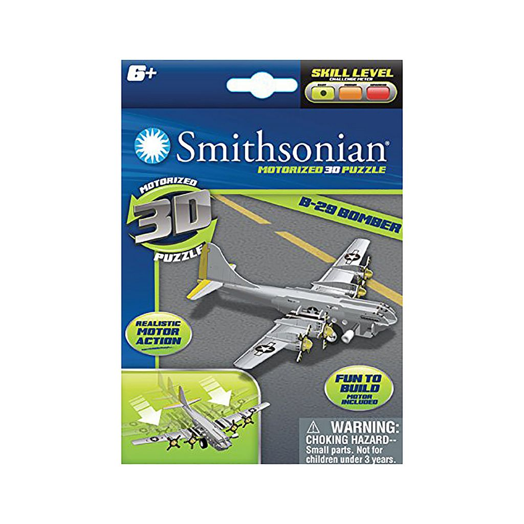 Skullduggery Smithsonian 3-pk. Flight 3D Motorized Puzzles