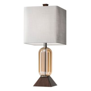 Adesso Kennedy Wood & Glass Table Lamp