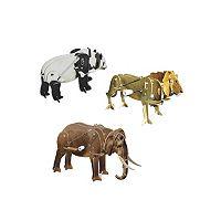 Skullduggery Smithsonian 3-pk. Safari Animals 3D Motorized Puzzles