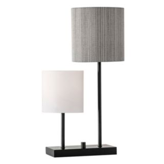 Adesso Aubrey 2-Light Tiered Contemporary Table Lamp