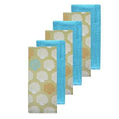 The Big One® Shell Kitchen Towels 6-pack
