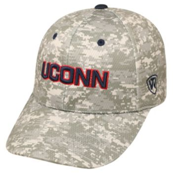 Adult Top of the World UConn Huskies Digital Camo One-Fit Cap