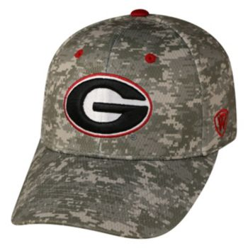 Adult Top of the World Georgia Bulldogs Digital Camo One-Fit Cap