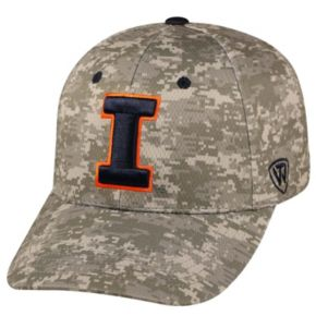 Adult Top of the World Illinois Fighting Illini Digital Camo One-Fit Cap