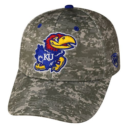 Adult Top of the World Kansas Jayhawks Digital Camo One-Fit Cap