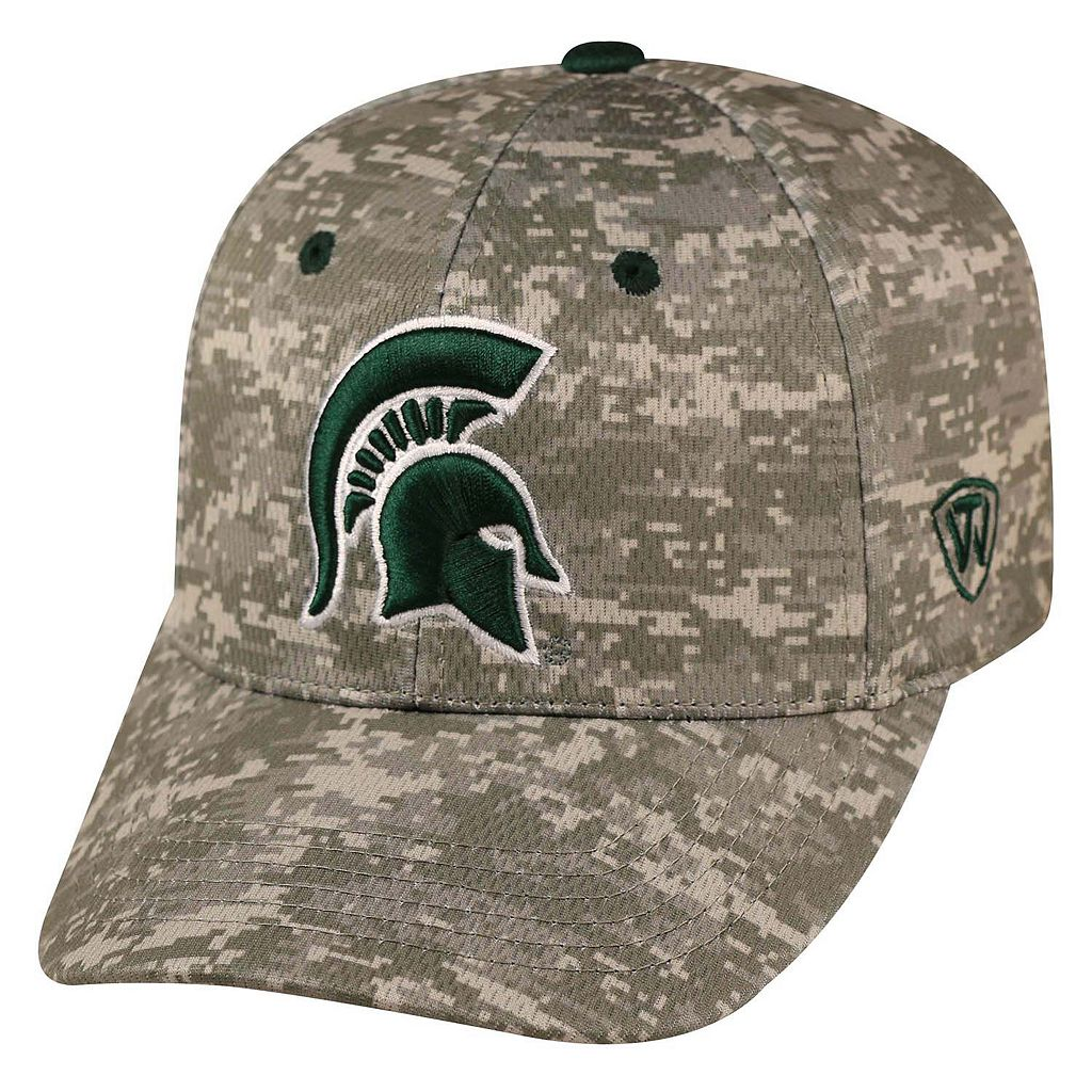 Adult Top of the World Michigan State Spartans Digital Camo One-Fit Cap