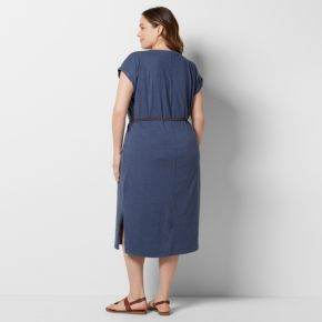 Plus Size SONOMA Goods for Life? Belted T-Shirt Dress