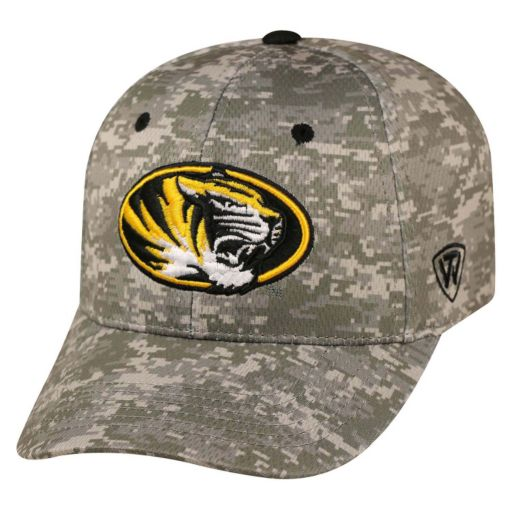 Adult Top of the World Missouri Tigers Digital Camo One-Fit Cap