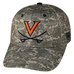 Adult Top of the World Virginia Cavaliers Digital Camo One-Fit Cap