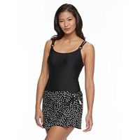 Women's Croft & Barrow® Hip Minimizer D-Cup Swimdress