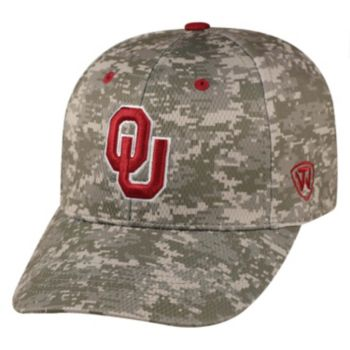 Adult Top of the World Oklahoma Sooners Digital Camo One-Fit Cap