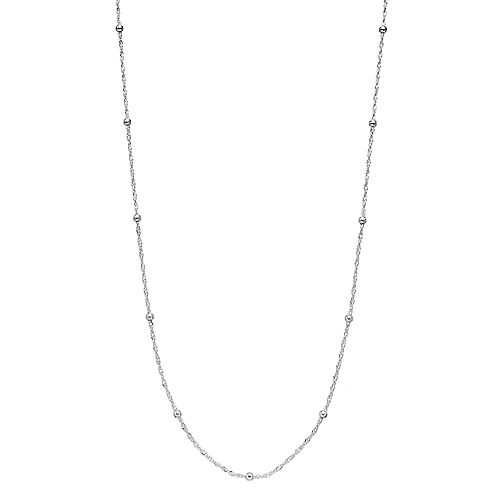 PRIMROSE Sterling Silver Bead Station Chain Necklace - 20 in.