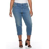 Plus Size Apt. 9® Straight-Leg Capri Jeans