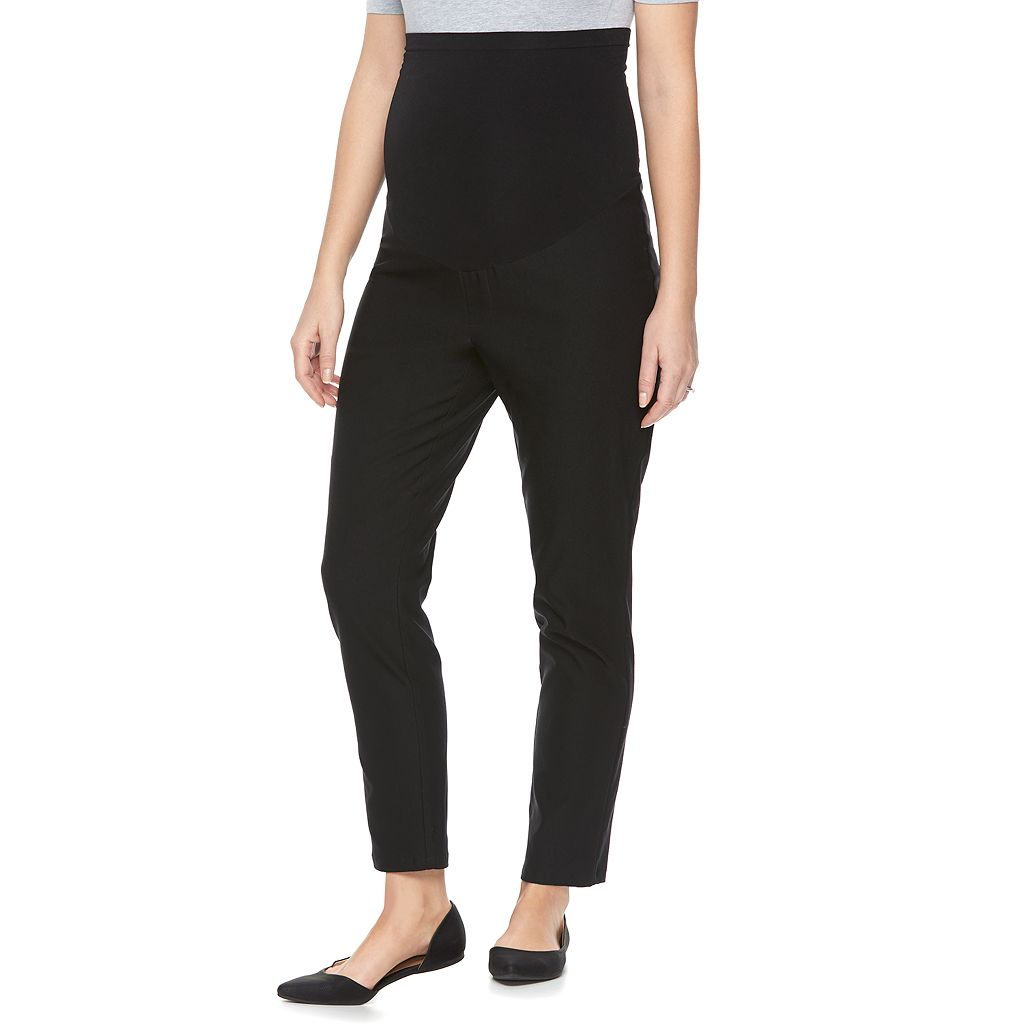 Maternity a:glow Belly Panel Skinny Ankle Pants