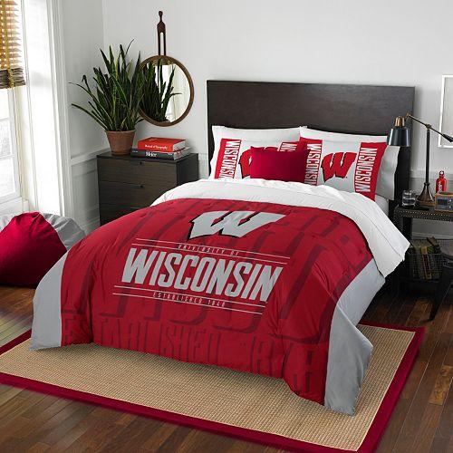 Wisconsin Badgers Modern Take Full/Queen Comforter Set by Northwest