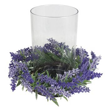 SONOMA Goods for Life™ Farmhouse Artificial Lavender Hurricane Candle Holder