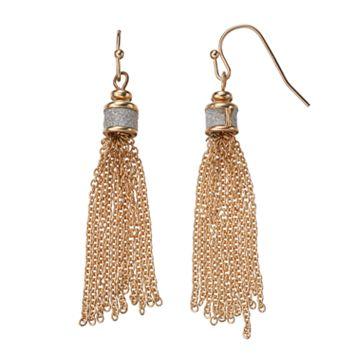 Glittery Tassel Drop Earrings