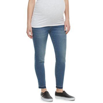 Maternity a:glow Belly Panel Release-Hem Skinny Jeans