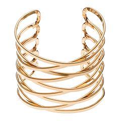 Apt. 9® Crisscross Multi Row Cuff Bracelet