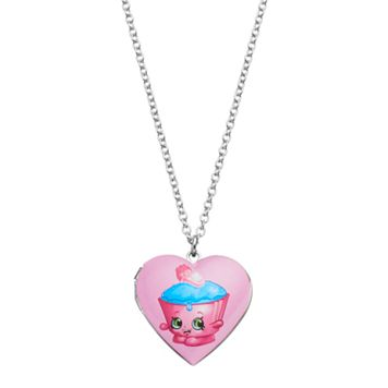 Shopkins Kids' Cupcake Chic Heart Locket Necklace